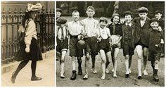 What young people looked like 100 years ago
