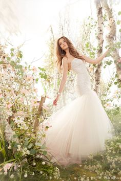 jim hjelm bridal spring strapless blush wedding dress style Jim Hjelm Spring 2014 Wedding Dresses