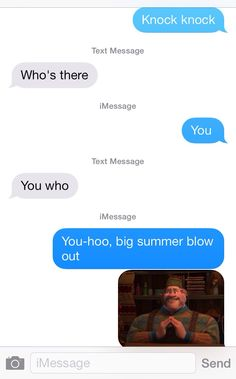 Frozen knock knock joke.