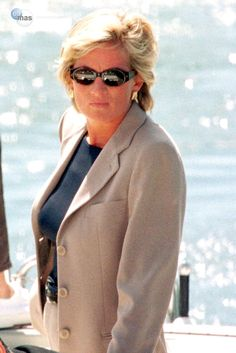 Diana shortly before she died in August 1997 on her last Summer holiday with Dodi Al Fayed who died with her in the fatal car accident