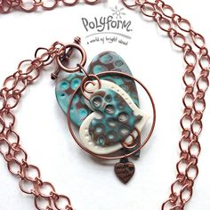 Sculpey® III Layered Hearts Necklace