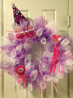 Birthday girl wreath