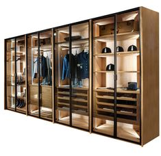 Avant Wardrobe by Riva 1920 Glass Wardrobe, Wardrobe Design Bedroom, Walk In Wardrobe, Bedroom Wardrobe, Walk In Closet Design, Closet Designs, Dressing Room Closet, Dressing Room Design, Modern Closet