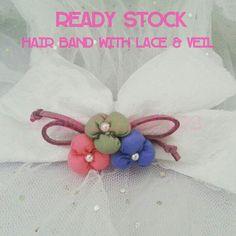 Hair band with veil #jualveil #veil #hairband #bridezillawears