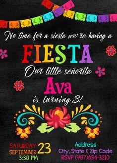 Fiesta Invitation, Cinco de Mayo Printable Invitation, Mexican Invitation, Fiesta Birthday Party, Me Mexican Fiesta Birthday Party, Fiesta Theme Party, Mexican Party Decorations, Graduation Decorations, Birthday Decorations, Mexican Invitations, Invites, 3rd Birthday Parties, Birthday Wishes