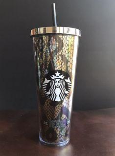 d2a90db6055 NWT STARBUCKS TEXAS RATTLESNAKE SNAKESKIN 24 OUNCE TALL COLD CUP  Starbucks  Texas Rattlesnake