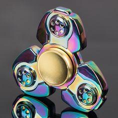 Unique Style Rainbow Aluminum Fidget Spinners 27 Variants