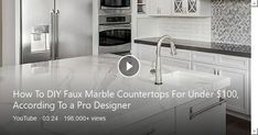 If you've always assumed marble countertops would be too pricey to have in your home, HGTV interior designer Taniya Nayak may have good news for you. Marble Countertops, Hgtv, Kitchen Remodel, How To Memorize Things, Sink, Interior Design, News, Room, House
