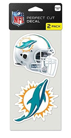 Miami Dolphins Set of 2 Die Cut Decals >>> Check this awesome product by going to the link at the image.