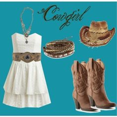 """Love this outfit! Cowgirl outfit with """"it's a wrap"""" bracelet Cowgirl Chic, Cowgirl Mode, Estilo Cowgirl, Cowgirl Style, Cowgirl Hats, Cowboy Boots, Country Girl Outfits, Country Girl Style, Country Fashion"""