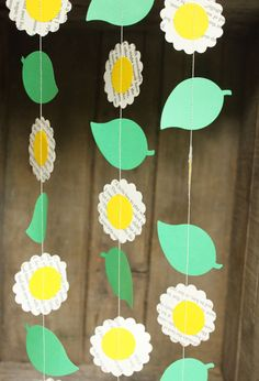 Flower garland flower decorations paper garland paper flower flower garland flower party decorations book page by smileywileys mightylinksfo