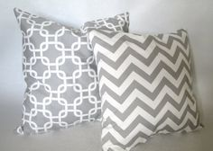 Pair of Chevron and gotcha Decorative throw pillow by LivePlush