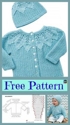 Cute Knitting Baby Cardigan – Free Patterns#freeknittingpattern #cardigan #babyclothes