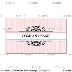 Preto divino à moda do rosa do vintage do CARTÃO Cartão De Visita