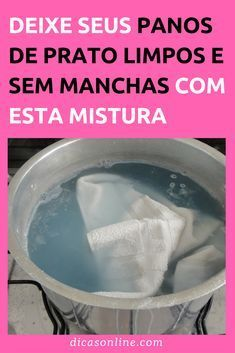 Como limpar pano de prato - Branquinho e Sem Manchas Cleaning Checklist, Cleaning Hacks, Bath For Yeast Infection, Baking Soda Bath, Natural Disinfectant, Flylady, Doing Laundry, Diy Home Crafts, Home Hacks