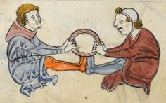 "Detail from ""The Rutland Psalter"", medieval (c1260), British Library Add MS 62925. f 69v"