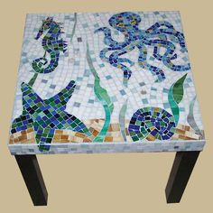 Sealife mosaic table by NY Mosaic Art