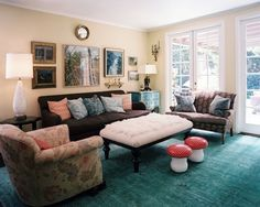 living room photos - Living Rooms With Ottomans