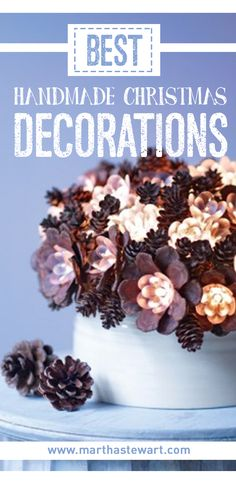 Dress up your home for the holidays with distinctive handmade decoration ideas from 20 years of Martha Stewart Living.
