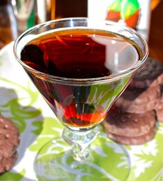 The Thin Mint Cocktail by thekitchn: 10 minute happy hour! #Cocktails #Thin_Mint