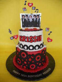 One Direction Birthday Cake by CakesUniqueByAmy.com, via Flickr
