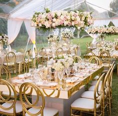 Mirror glass modern furniture 8 seaters glass dining table with wedding chairs set Marquee Wedding, Tent Wedding, Indoor Wedding, Wedding Chairs, Luxury Wedding, Wedding Table, Dream Wedding, Gold Wedding Decorations, Reception Decorations