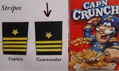 Cap'n Crunch is not, in fact, a captain.