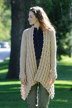 Elena Cardigan steel blue cornflower blue mohair wool open-front cardigan winter