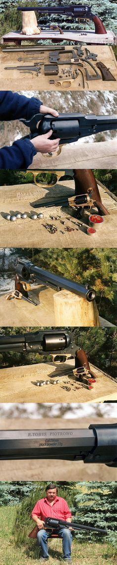 Built by Poland's Ryszard Tobys, this super-sized replica of a Remington 1859 holds the world record for being the world's largest revolver.