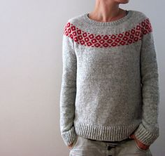 Knitting instructions bubbly sweater by Isabell Kraemer – Sweater Knitting Patterns, Knitting Designs, Knit Patterns, Fair Isle Knitting, Free Knitting, Tejido Fair Isle, Fair Isle Pullover, Knitwear, Knit Crochet