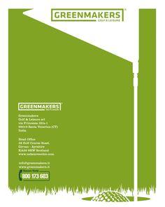 Retro copertina Brochure Golf In Green Makers