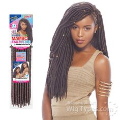 Janet Collection Synthetic Braid - Havana 2x Mambo Faux Locs 18 - WigTypes.com