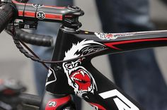 The bike of Andre Greipel sports his trademark gorilla