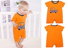 Newborn Baby Toddler Boy Car Cotton Short Sleeve Bodysuits Romper Jumpsuit 0-3M #ibaby #Everyday