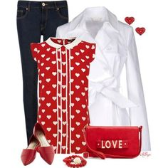 awesome 6 Valentine's day outfits - 1 top many looks
