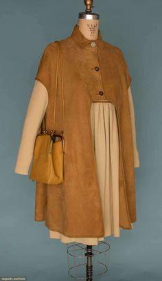 Augusta Auctions - Bonnie Cashin 1960's -Suede overcoat ensemble.