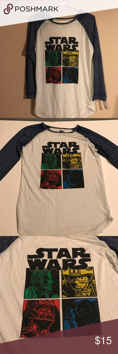 NWT STARWARS LONG SLEEVE SHIRT BRAND NEW WITH TAGS STAR WARS SHIRT SIZE LARGE Tops Tees - Long Sleeve