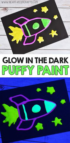 Glow In The Dark Puffy Paint Recipe - I Heart Arts n Crafts