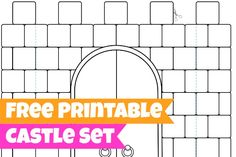 castle = castillo :) LOVE THESE! These FREE coloring pages can be folded into a kingdom for play! - Free Printables for Kids - Castle, King and Queen Templates Printable Free, Free Printables, Printable Paper, Castle Crafts, Castle Project, Fairy Tales Unit, Kids Castle, Craft Activities For Kids, Free Coloring Pages