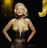 Marilyn Monroe letter J alphabet gif animated
