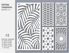 This 12 SVG DXF Eps Png Bundle Cut Template Modern Decorative is just one of the custom, handmade pieces you'll find in our patterns & blueprints shops. Laser Cut Screens, Laser Cut Panels, Kit Cnc, Decoration Facade, Kreis Logo, Jaali Design, Stencils, Cnc Cutting Design, Modelos 3d