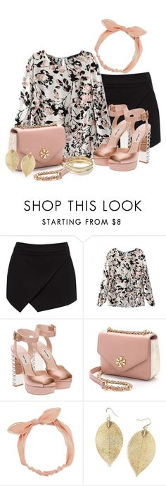 """Floral blouse #158"" by joanaraquelgt ❤ liked on Polyvore featuring Forever New, Miu Miu, Tory Burch, Arizona and Jennifer Lopez"