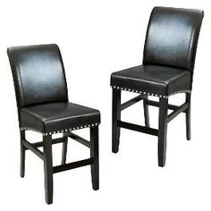 Christopher Knight Home Lisette Leather Counter Stools