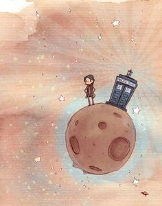 El pequeño Doctor 11 x 14 cartel impresión por theGorgonist en Etsy