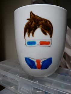 Tenth Doctor with 3D Glasses Mug // Doctor Who