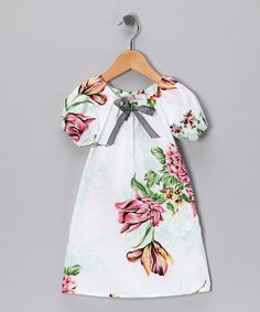 White Very French Floral Peasant Dress - Infant & Toddler