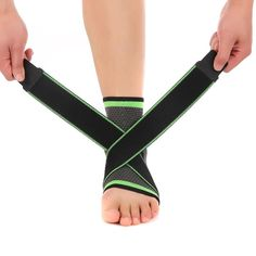 Weaving Elastic Nylon Strap Ankle Support Brace Badminton Basketball Football Taekwondo Fitness Heel Protector Gym Equipment ** More info could be found at the image url. (This is an affiliate link) Badminton, Taekwondo, Jogging, Nylons, Bones Of The Ankle, Athleisure, Ankle Compression Sleeve, Spandex, Workwear