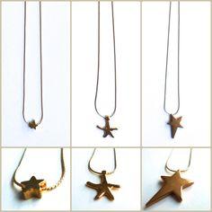 collare finos dorados estrellas