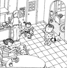 """Illustrations from WHAT ABOUT ME? are available for your use on such complimentary downloadables as notecards that kids can use for classroom writing assignments or to write thank-you notes or invitations. See the """"Teachers"""" tab on the top menu at parentingpress.com for the variety of art and teacher guides that are ready to use."""
