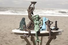 Mermaid party!!!!! Cast Iron Mermaids for your beach house or coastal home | Candy's Cottage
